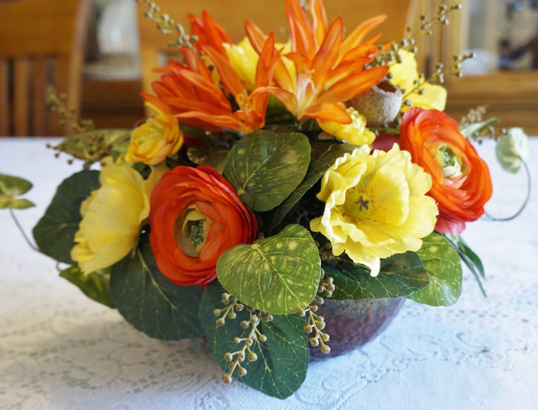 home decor silk flower arrangements - Silk Arrangements For Home Decor