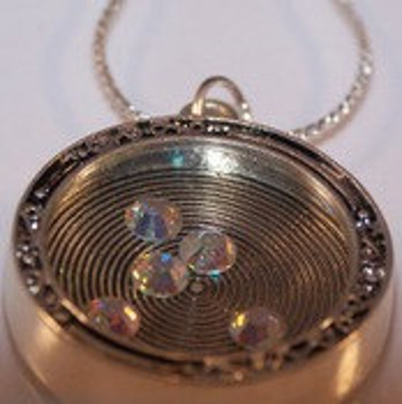 Floating Crystals Locket, Gifts for Women & Teen Girls, Necklace Jewelry