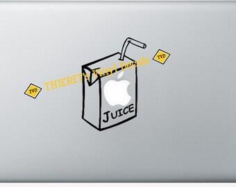 macbook apple juice vinyl laptop decal