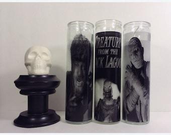 Universal Monsters The Mummy Boris Karloff Horror Prayer Candle