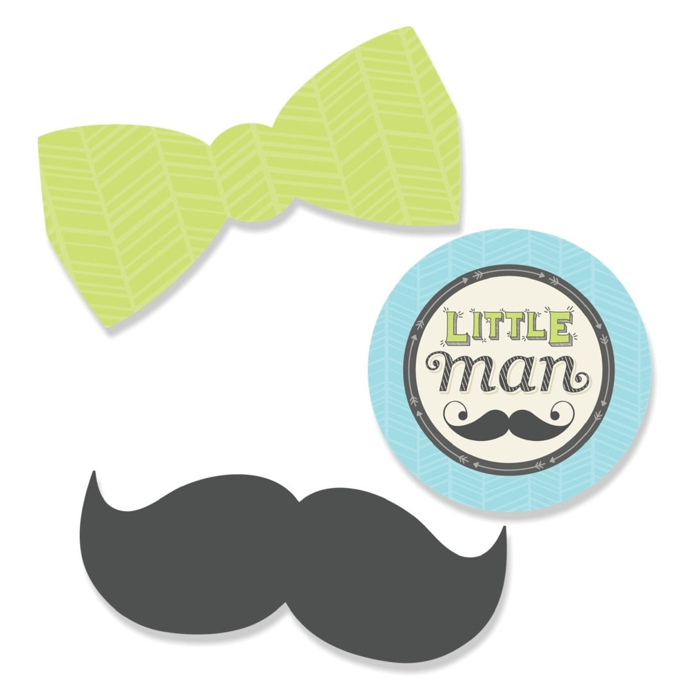 24 pc small dashing little man mustache party mustache and