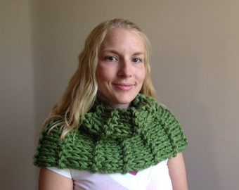 Claire Knit Cowl Chunky Infinity Scarf Handmade Version 4
