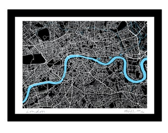 Giant London Art Map - Limited Edition Contemporary Giclée Print