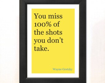 """Inspirational Quote Typography Print - """"100%"""" Colourful Home Decor Motivation Print Typographic Art Summer Trends"""