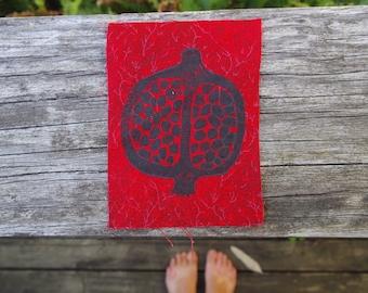 Pomegranate fabric patch