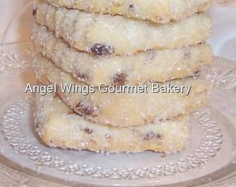 Date Walnut Shortbread Cookies 1 dozen, Gourmet Italian Butter Cookies