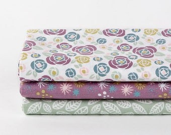 Camellia - Quarter Fabric Pack 3 Fabric 1set - Sets for 3 each 45 X 55 cm