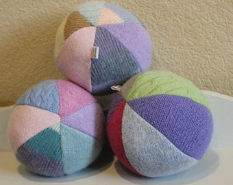 Easter Basket Stuffer - Baby Toy - Toddler Gift - Wool Ball - Baby Shower Gift - First Birthday Gift
