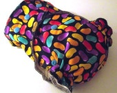 REDUCED old stock - Monkey Snuggles Toddler  Fitted Cloth Nappy in Jelly Bean  Woven Fabric