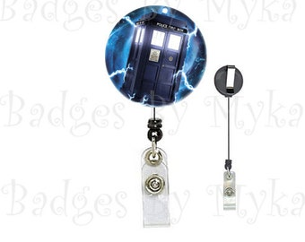 Retractable ID Badge Holder - Dr. Who