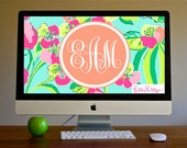 ISLAND COCKTAIL Lilly Inspired Monogrammed Background!