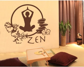 Zen wall decal, sticker, mural, vinyl wall art