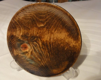 Hand Made Wood Plate With Salad Bowl Finish