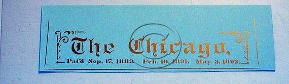 Chicago Typewriter Water Slide Decal