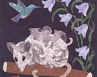Woodland Creatures, Opossum Block - Applique Quilt Kit
