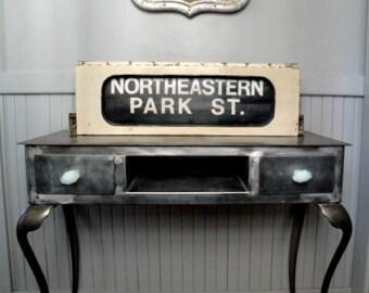 Vintage Boston train sign