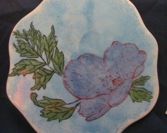 Handpainted Iris Trivet