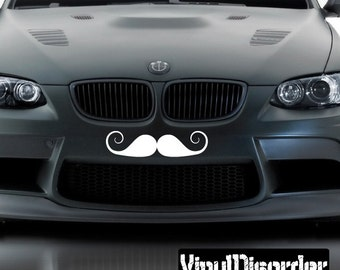 Mustache Vinyl Wall Decal Or Car Sticker - Mvd010ET