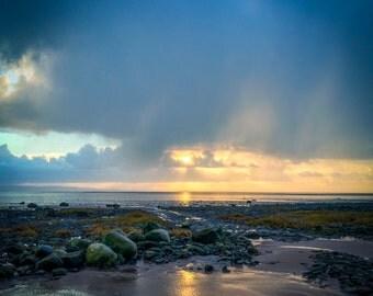 WInter sun near Barrow-in-Furness - Photo Print