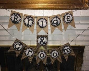 SALE! Today ONLY!! Bride & Groom Wedding Banner
