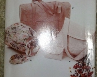 Butterick Craft 4920 Pattern Makes 3 Different Bags/Purses