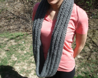 Infinity Scarf in Charcoal Gray