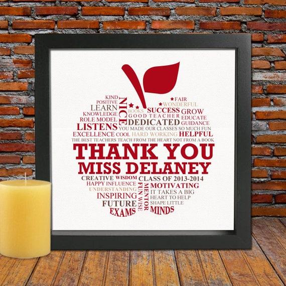 FRAMED Personalized Teacher appreciation gift Teacher Gift