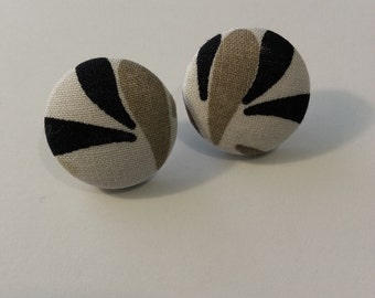 fabric button earrings