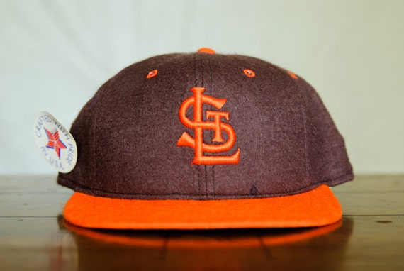 Vintage St Louis Browns Mlb Fitted Baseball Cap 100 Wool