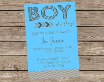long distance baby shower 5x7 invitation and 5x5 insert card
