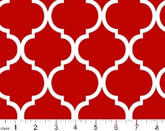 QUATREFOIL by MDG in Tomato Red by the yard