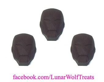 3 Solid Chocolate Ironman Heads
