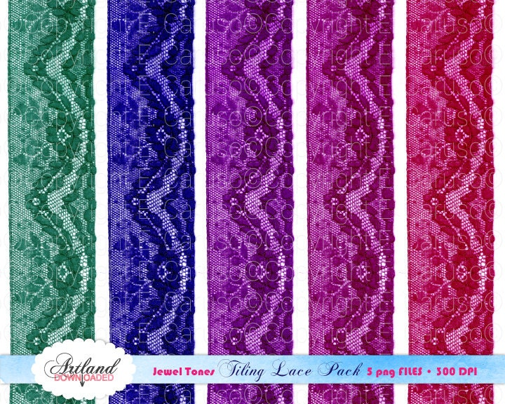 Jewel tone colors tiling lace pack digital by - What are jewel tone colors ...