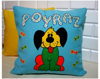 CUTE DOG Personalized Name Pillow-Hand Painting