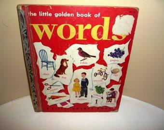 Vintage 1948 The Little Golden Book of Words