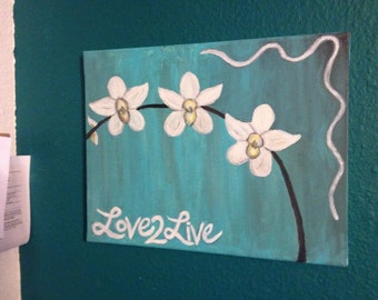 Love2Live Orchid Painting