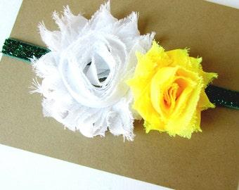 Green Bay Packers Headband, Baby Headband, Packer Headband, Baby Packers Headband, Green Bay Packers, Newborn Headband, Glitter Headband
