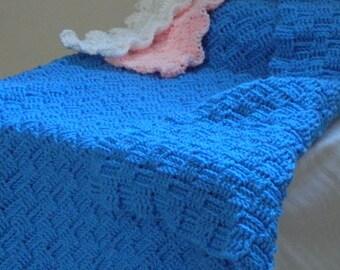 Crochet Blanket - Basket Weave - 4' x 4'