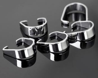 Stainless steel bails,pinch bail,modern bails,steel hooks,jewelry making supplies-findings-stainless steel findings-hooks-clasps,pinch clasp