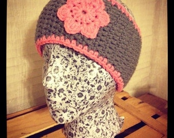 Crochet Simple Flower Earwarmer
