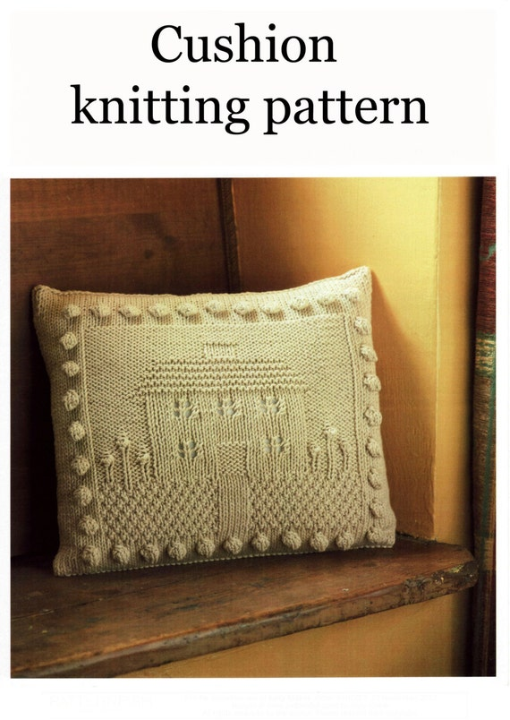 Cushion Knitting Patterns To Download : House cushion knitting pattern digital PDF download 99p