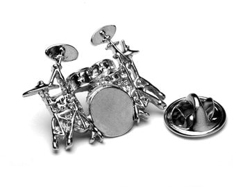 Drum Kit Pin Badge/ Lapel Pin - great gift for drummers or music teachers!