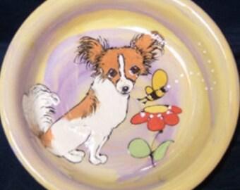 Hand Painted Ceramic Chihuahua Dog Bowl