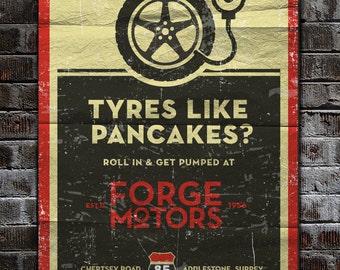 Retro / Vintage Car Garage Poster