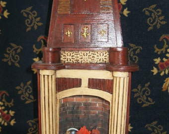 Dolls House miniature electric fireplace