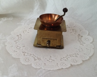 Miniature Brass/Copper Coffee Grinder