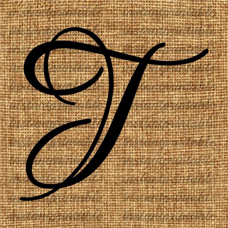 Monogram Initial Letter T Letter Clip Art Letter Decal