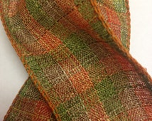 "NEW FALL RIBBON - Wired Notari Ribbon - Orange Plaid - 1.5"" - Offray Fall Collection 2014 - Beautiful Ribbon!"