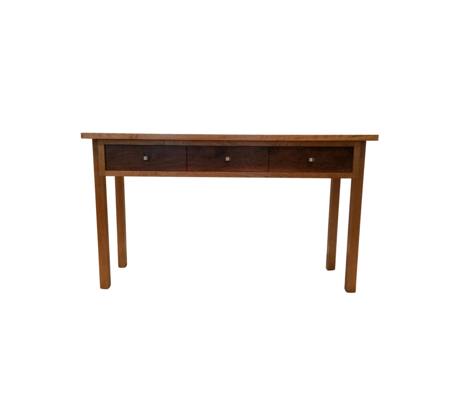 Marvelous photograph of Three Drawer Cherry Wood Console Table Fine by MayfieldModern with #6C3E1E color and 1500x1261 pixels