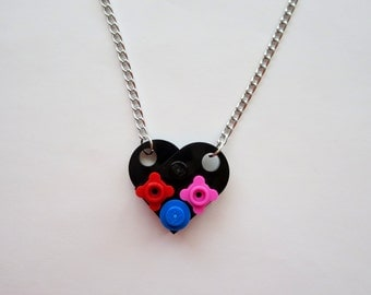 Mother's Lego Heart Necklace